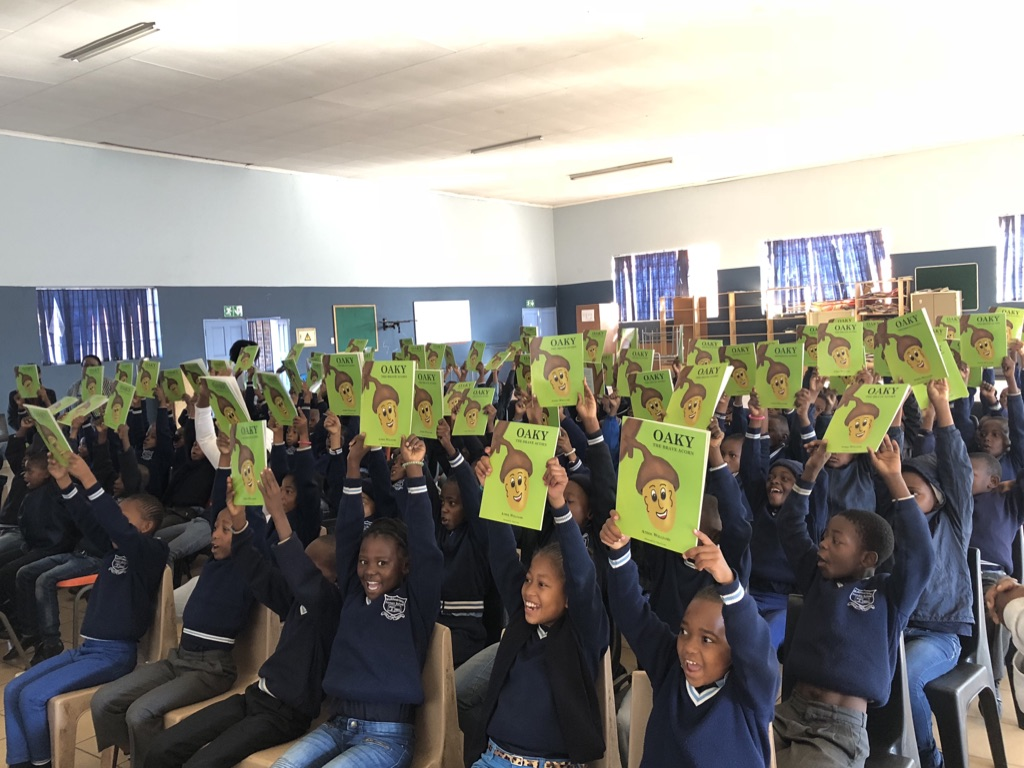 learners receiving books